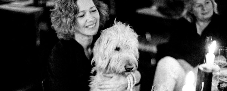 gaby Bohle und Pia Schaf mit Hund Willy